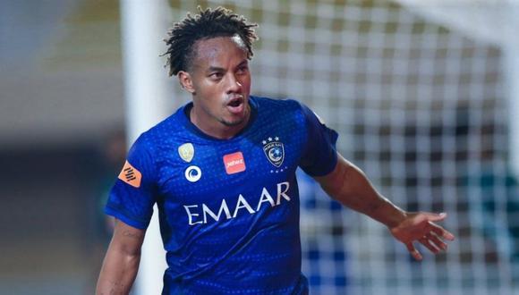 André Carrillo anotó el mejor de la jornada con la camiseta de Al Hilal  (Foto: @alhilalfc)