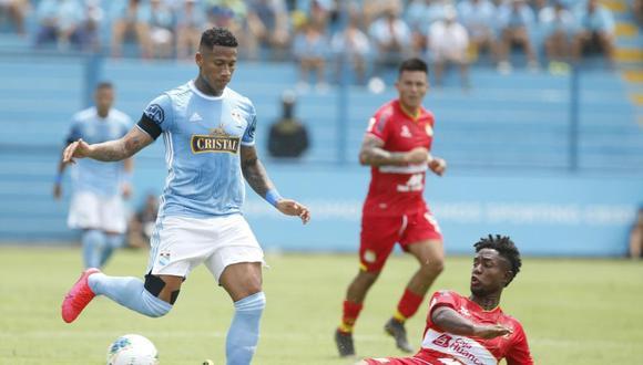 Sporting Cristal chocó contra Sport Huancayo en el Gallardo. (Foto: Violeta Ayasta / GEC)