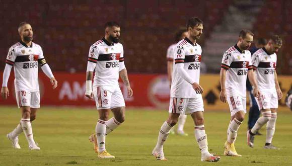 Barcelona SC cayó 2-1 ante Flamengo en Guayaquil por el Grupo A de de Copa Libertadores. (Foto: AP)