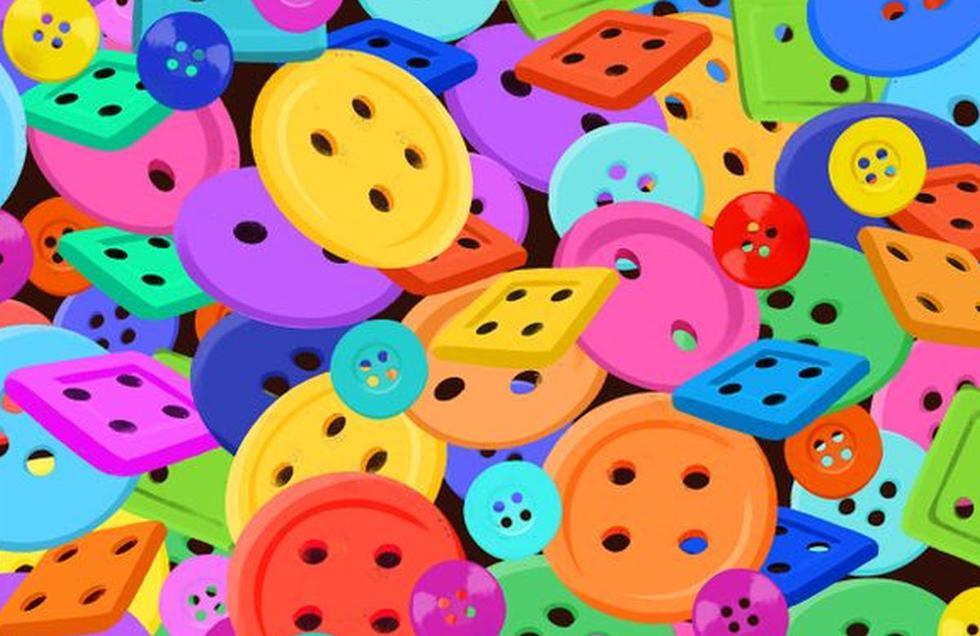 Ubica el dado oculto entre los botones de este reto viral que es tendencia (Foto: Facebook)