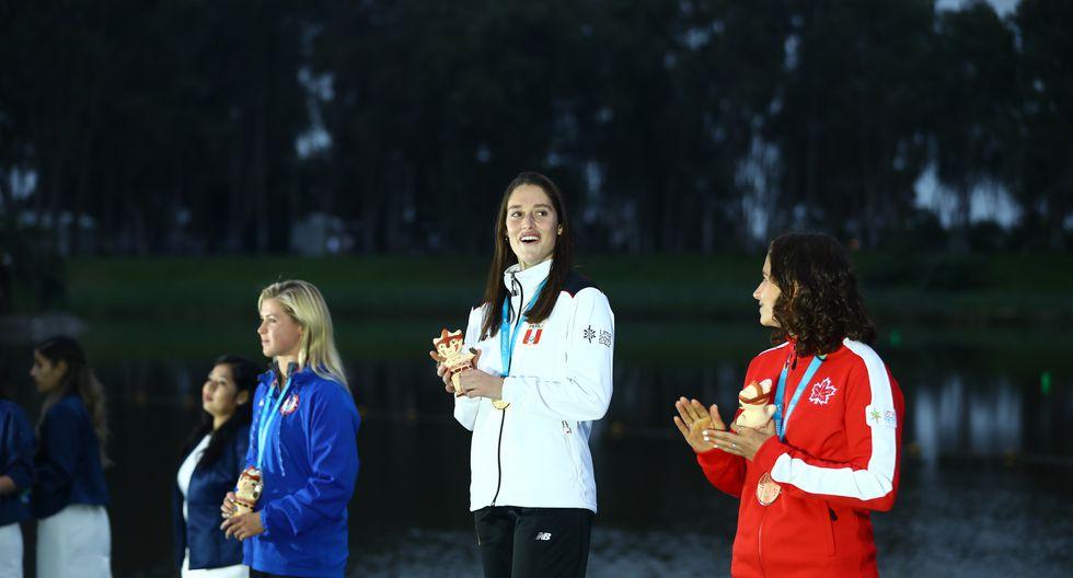 Natalia Cuglievan: Medalla de oro en esquí acuático. (Foto: Daniel Apuy / GEC)