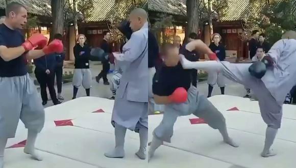 Un video viral muestra el alucinante resultado del combate entre un monje y un peleador de MMA. | Crédito: @urijahfaber / Instagram