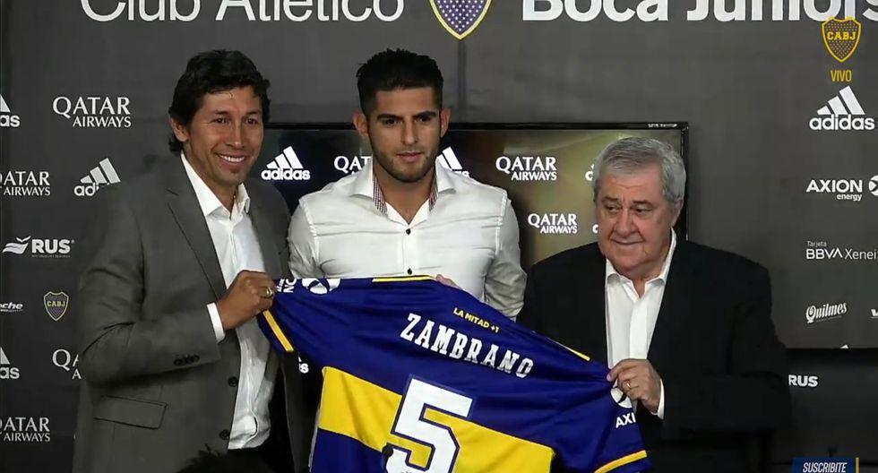 Carlos Zambrano fue presentado como nuevo jugador de Boca Juniors. (Twitter)