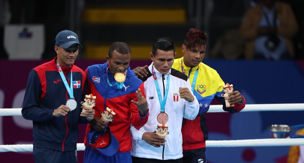 Leodan Pezo: Medalla de bronce en Boxeo. (Foto Hugo Pérez / GEC)