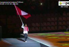¡Orgullo total! Gladys Tejeda fue la abanderada peruana en la ceremonia de clausura de Lima 2019