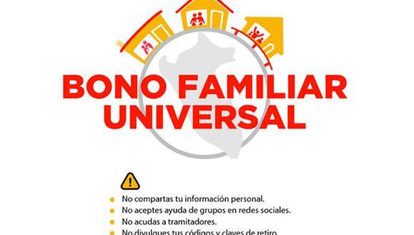 Bono Universal: cómo cobrar y en dónde. (Foto: MIDIS)