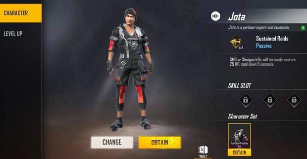 Jota | Personaje de Free Fire