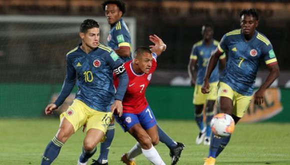 Chile y Colombia igualaron por Eliminatorias Qatar 2022