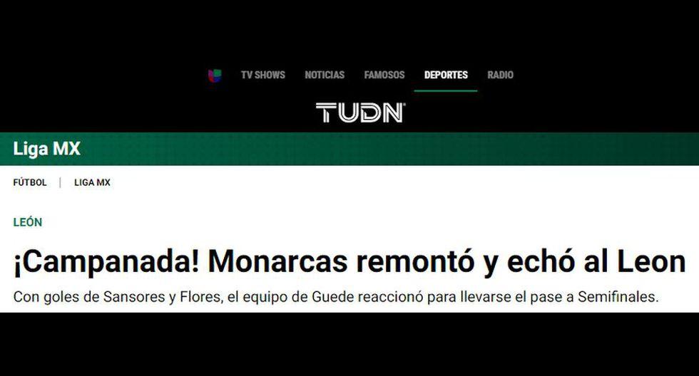 Así informaron los medios mexicanos sobre la clasificación de Morelia a semifinales de Liga MX.
