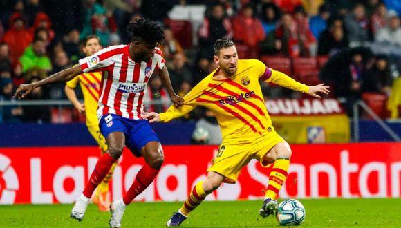 Atlético de Madrid, con Simeone en el banquillo, no sabe lo que es vencer al Barcelona en el torneo local. (Foto: Twitter)
