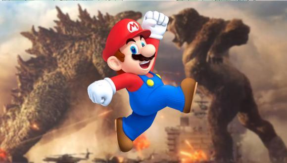 """Así se vería el choque de """"Godzilla vs. Kong"""" con los personajes de Nintendo"""