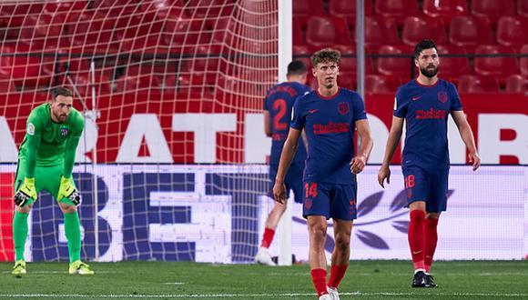 Atlético de Madrid perdió ante Sevilla y recortó la ventaja con Real Madrid y quizá con Barcelona. (Getty)