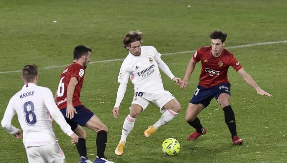 Real Madrid y Osasuna empataron a cero por LaLiga Santander. (AP)