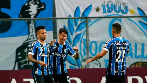 Gremio venció a Ayacucho en la ida de la Fase 2 de la Copa Libertadores 2021. (Foto: @Libertadores)
