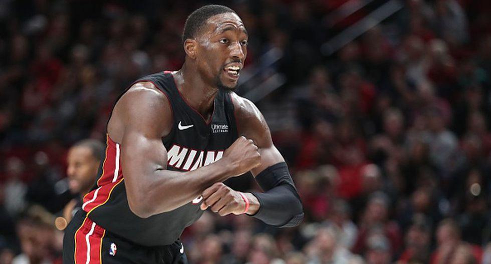Bam Adebayo de Miami Heat para el Team Giannis. (Getty Images)
