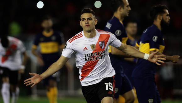 Rafael Santos Borré, de River Plate, interesa a Celta de Vigo de España. (Foto: AFP)