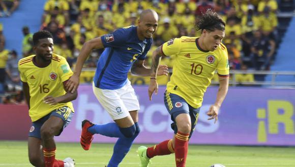Juan Fernando Quintero fue titular en el Colombia vs. Brasil por Eliminatorias Qatar 2022. (Foto: AFP)