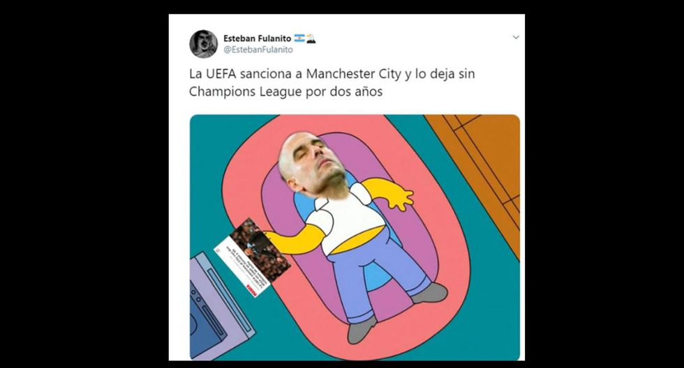 Los memes más virales sobre la sanción de la UEFA al City