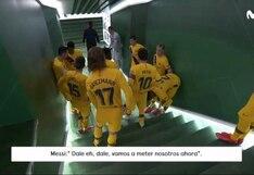 Lionel Messi en su papel de líder: las palabras capitán del Barcelona para motivar a sus compañeros ante Betis