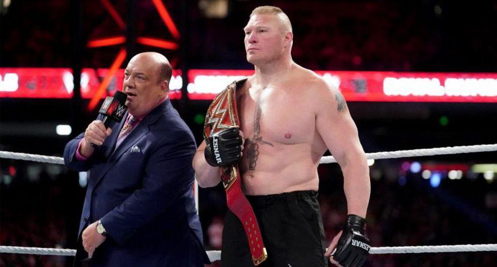 Brock Lesnar retirado de varias apariciones en Monday Night Raw. (WWE)