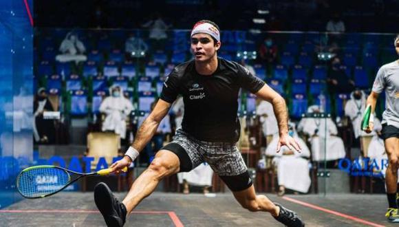 Diego Elías venció a Miguel Rodríguez y clasificó a los cuartos de final del Qatar Classic 2020. (Difusión)