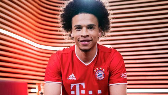 Leroy Sané firmó contrato con el Bayern Munich hasta el 2025. (Getty)