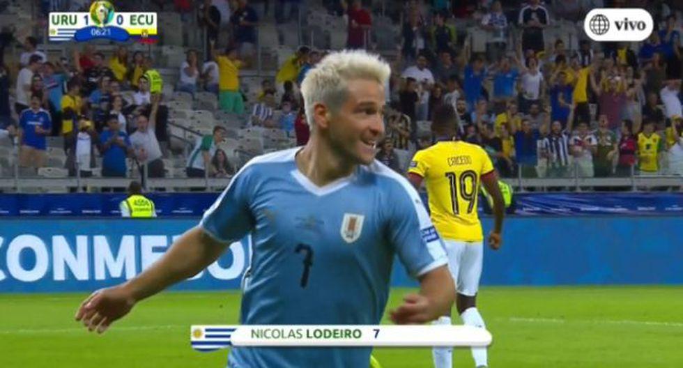 Uruguay vs. Ecuador: GOL Lodeiro para el 1-0 por la Copa América 2019. (América TV)
