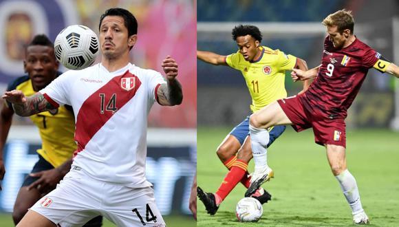 Perú y Venezuela se enfrentan por la Copa América. (Fotos: Agencias)
