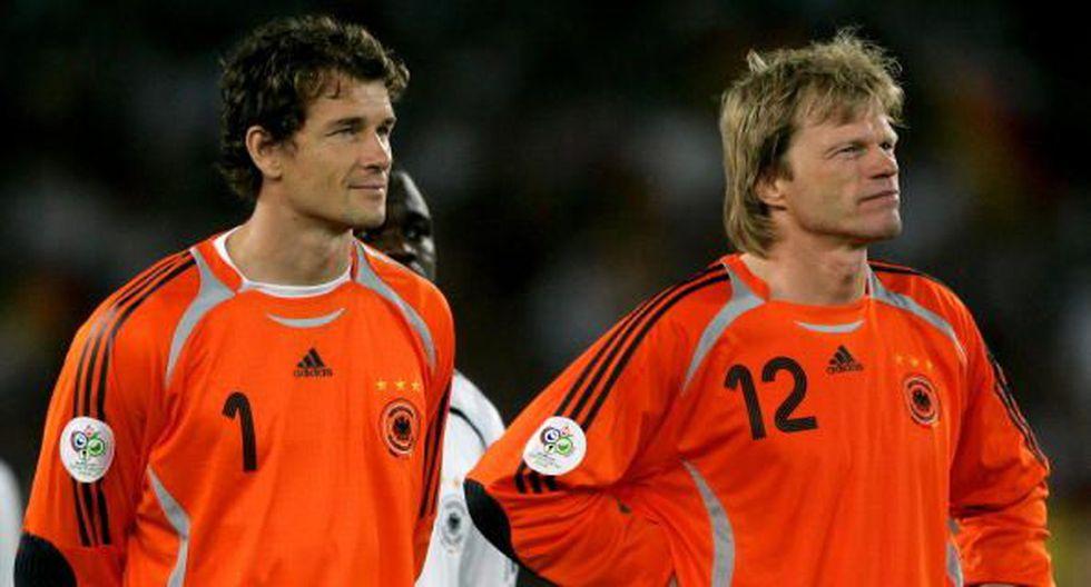 Jens Lehmann y Oliver Kahn, los porteros de Alemania en 'su' Mundial en el 2006. (Getty Images)