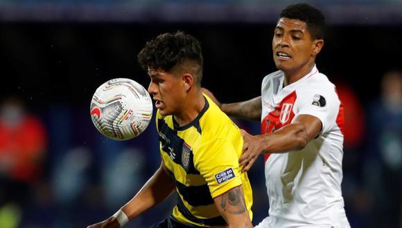 Wilder Cartagena acumuló 102 minutos en la Copa América. (Foto: EFE)