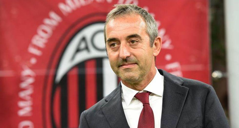 El AC Milan anunció la destitución de su entrenador Marco Giampaolo luego del discreto inicio del equipo lombardo en la Serie A.