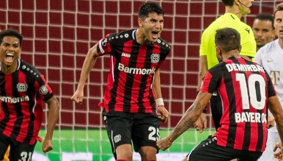 Exequiel Palacios se rompió un ligamento jugando por Bayer Leverkusen. (Foto: Twitter)