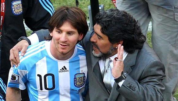 Lionel Messi fue dirigido por Diego Maradona en el Mundial Sudáfrica 2010. (Foto: FIFA)