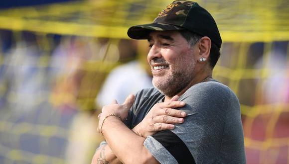 En Francia rindieron homenaje a Diego Maradona. (Foto: AFP)
