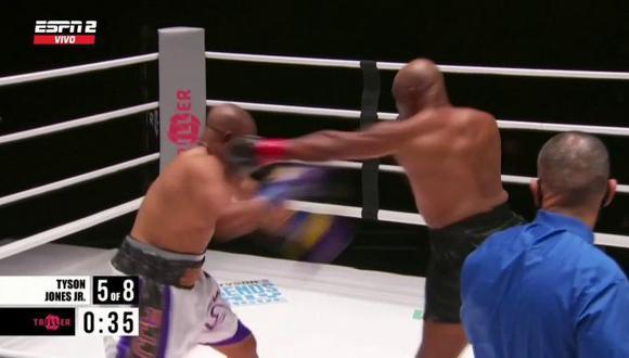 Mike Tyson dio gran exhibición de boxeo ante Roy Jones Jr en su vuelta al ring en Los Ángeles. (ESPN)