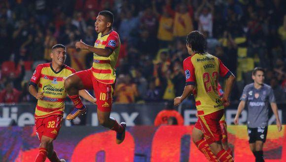 GOL de Edison Flores para el 2-0 de Morelia ante Necaxa. (Diario Record)