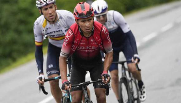 Nairo Quintana conquistó la montaña más alta del Tour de Francia 2021. (Foto: AP)