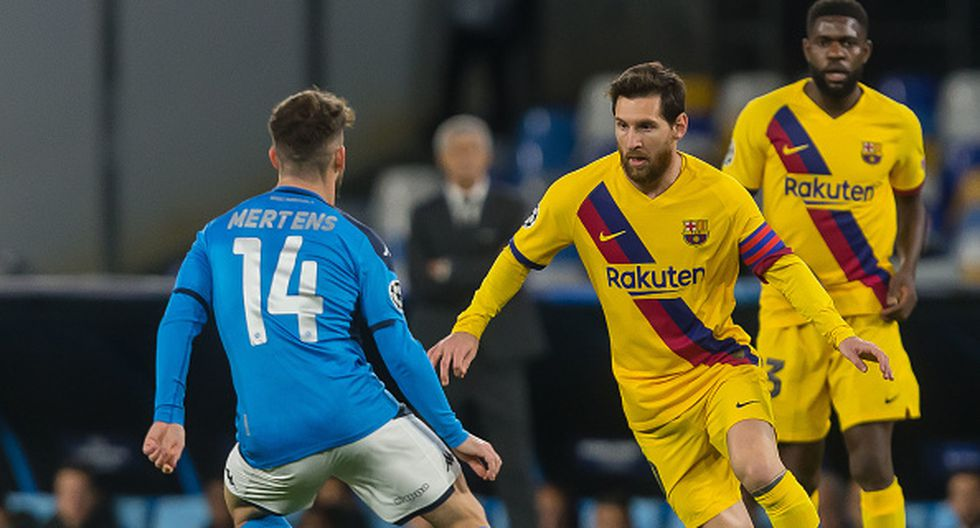 Barcelona vs. Napoli por Champions League. (Getty)