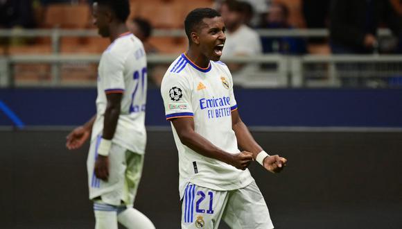 Real Madrid venció 1-0 al Inter de Milán, por la Champions, con gol de Rodrygo. (Foto: AFP).