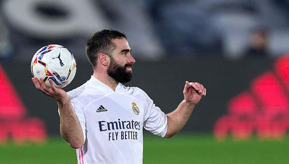 Dani Carvajal no juega con Real Madrid hace dos meses. (Getty)