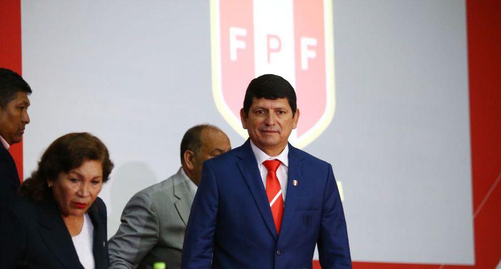 Agustín Lozano es el actual presidente de la Federación Peruana de Fútbol. (Foto: Jesús Saucedo)