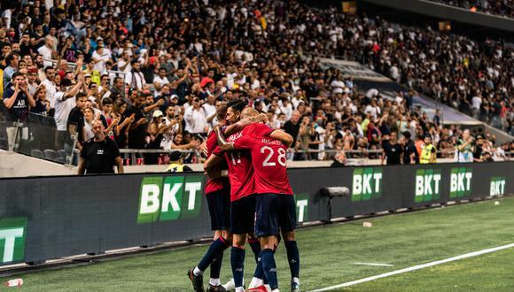 Lille venció 1-0 al PSG por la Supercopa de Francia con gol de Xeka. (Foto: AFP)