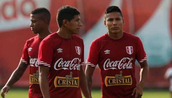 Edison Flores y Andy Polo son dos de los jugadores que entrenan en la VIDENA pensando en las Eliminatorias. (Foto: GEC)