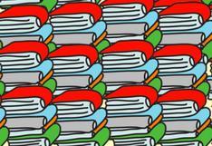 Apto para genios: encuentra el lápiz oculto en el reto viral de los libros ahora [FOTO]