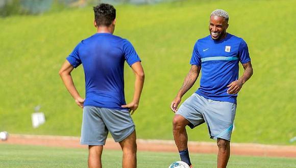 Farfán volvió a entrenar con Alianza Lima. (Foto: prensa AL)