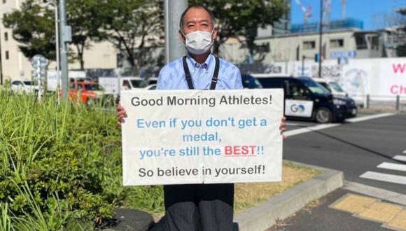 El hombre se ha ganado el aprecio de los atletas de participan en Tokio 2020. (Foto: Youka Nagase | Time Out)