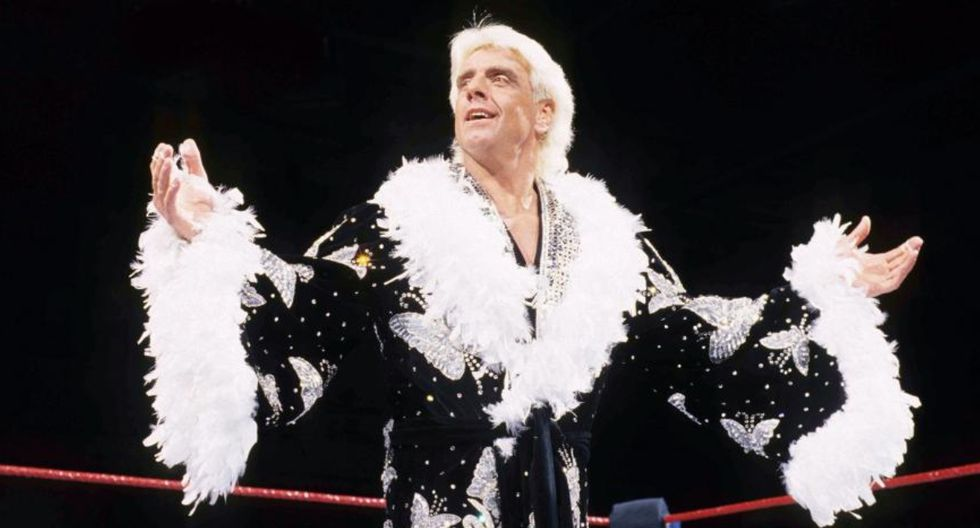 Flair ingresó al Salón de la Fama de WWE en 2008. (Foto: WWE)