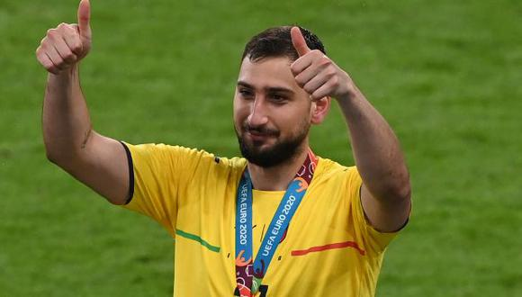 Donnarumma le atajó el penal a Sancho y Saka en la final de la Eurocopa. (Foto: AFP)