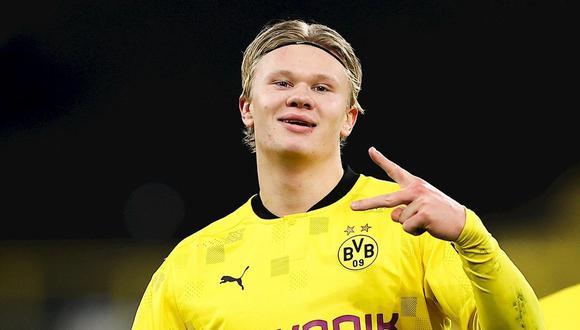 Erling Haaland lleva 17 goles y tres asistencias en el Dortmund en 14 partidos de los que va en el 2020-21. (Foto: EFE)