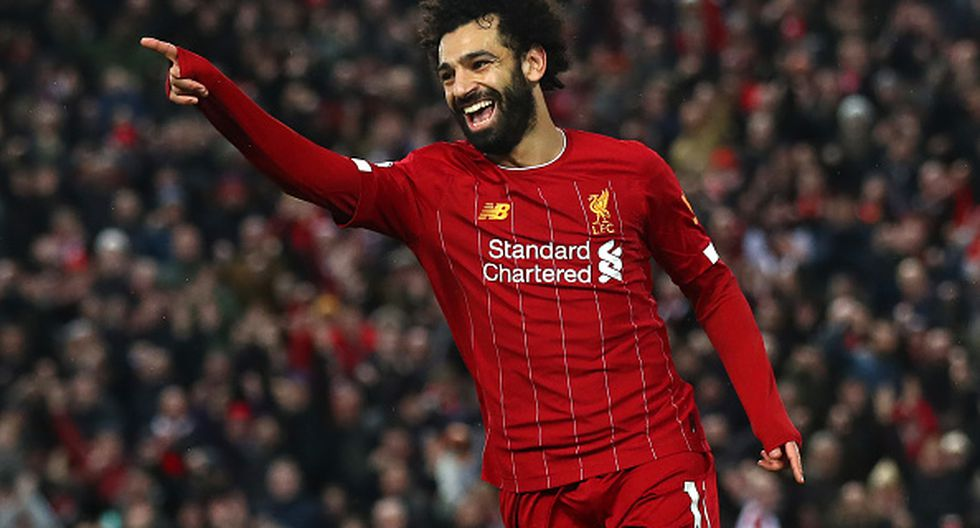 15. Mohamed Salah - Liverpool - 14 goles - 28 puntos (Getty)